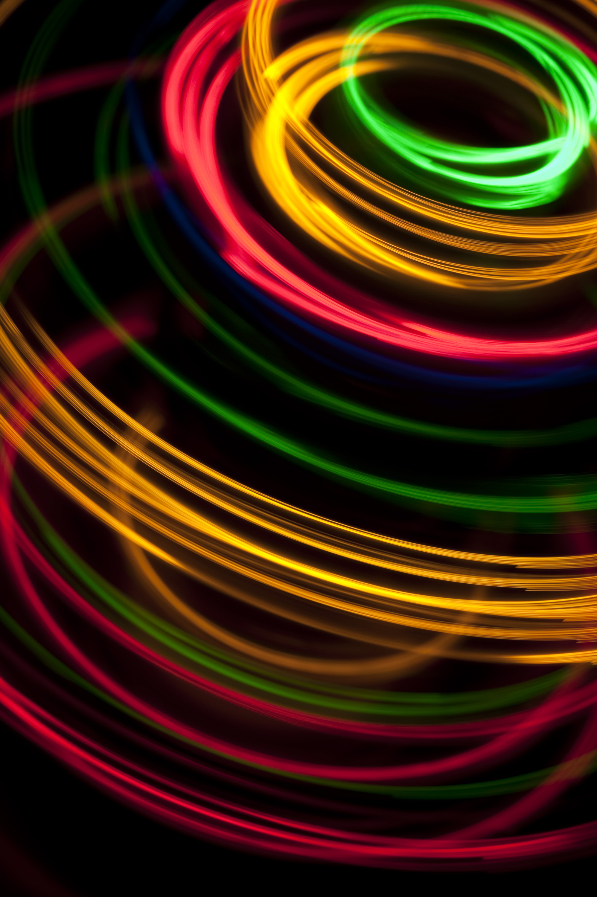circular looping light painted style motion trails