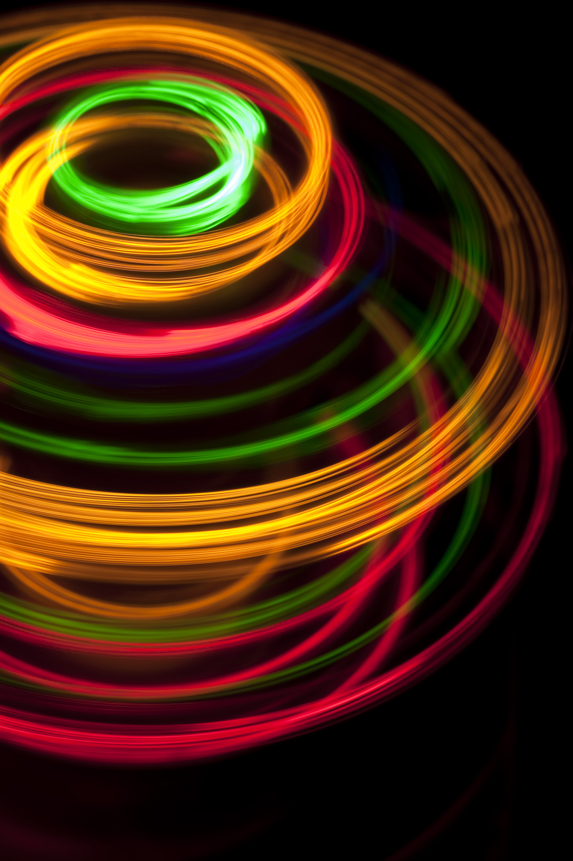 colorful spinning light effect backdrop