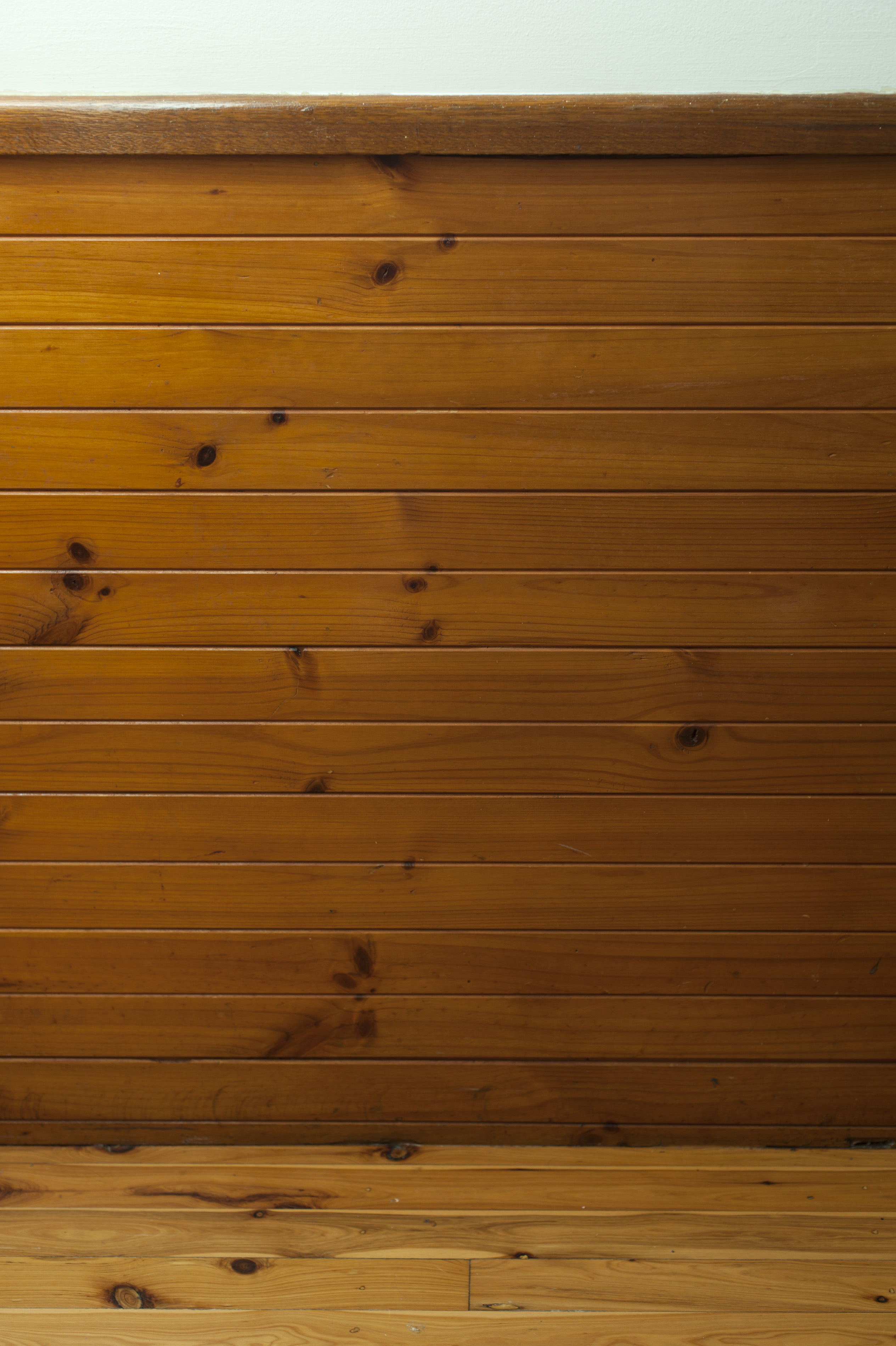 Wooden Dado Wall Protection Boarding Running Horizontal With A Chair Rail  Or Dado Rail On Top